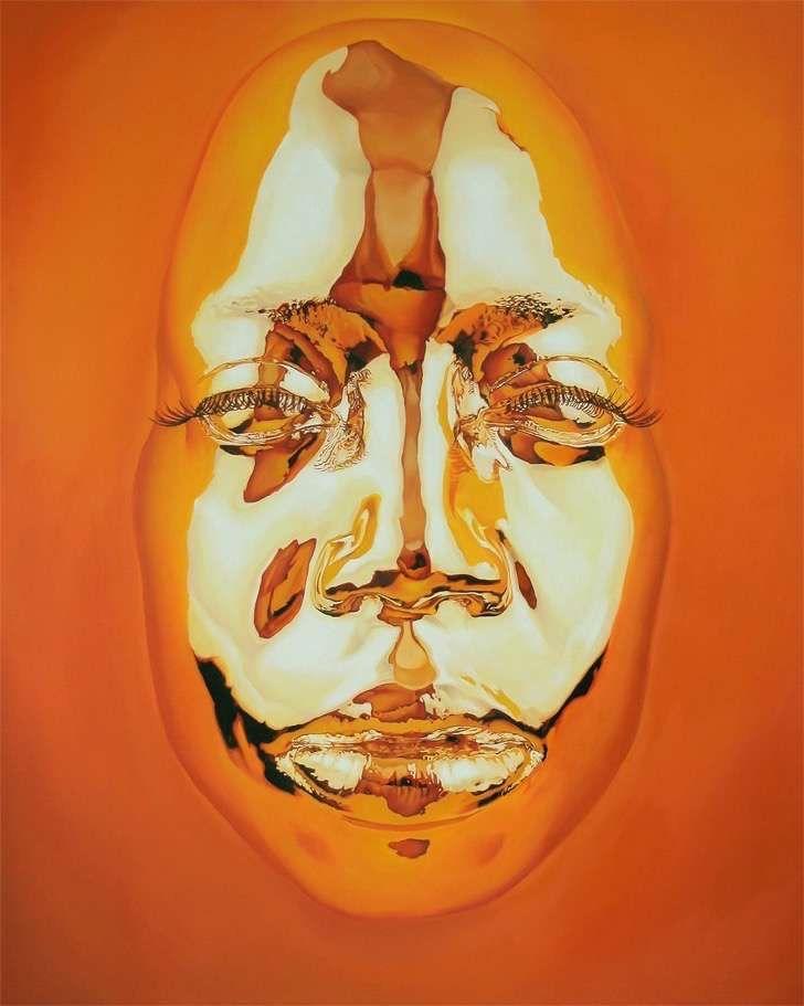 Tienes que ver esas pinturas al óleo con máscaras cromáticas hiperrealistas del artista Kip Omolade