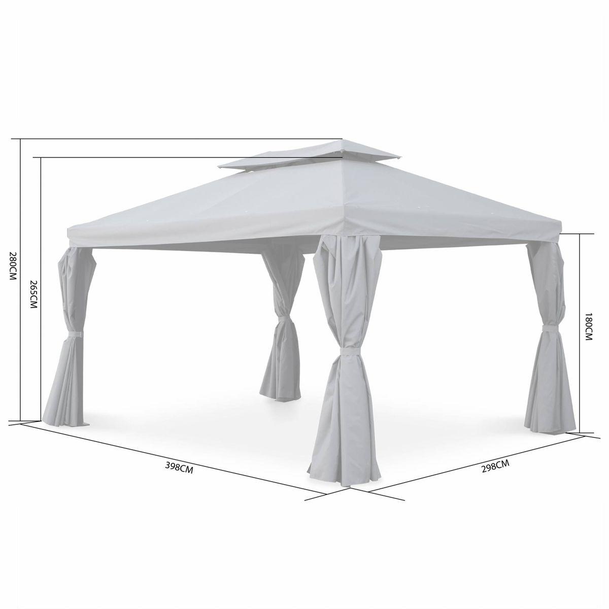 Tente De Jardin, Pergola Aluminium 3x4m Divodorum , Avec ...