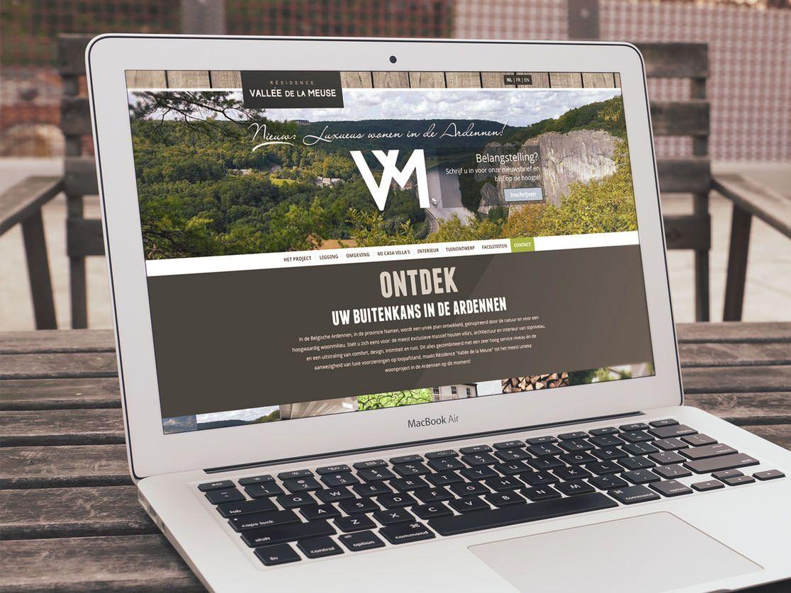 Onepage webdesign en development: Vallee De La Meuse