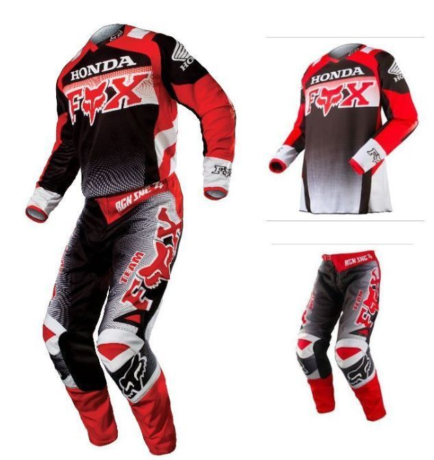 2015 Fox Racing 180 Honda Red Black Mx Riding Jersey Pants 2pc Combo Motocross Motocross Gear Riding Gear Motocross