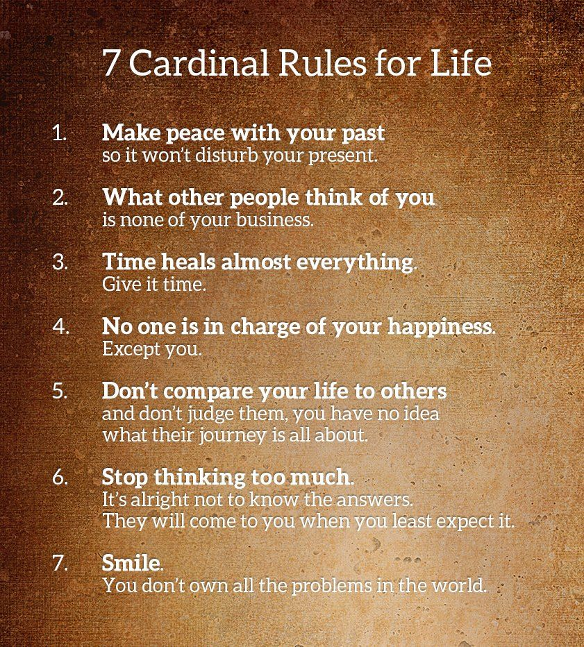 7 Rules Of Life Quote: 7 Cardinal Rules Of Life