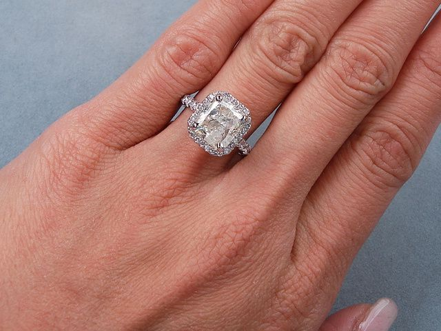 4 40 Ctw Radiant Cut Diamond Engagement Ring