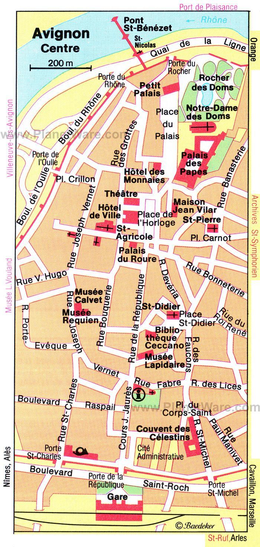 AVIGNON TOURIST MAP httpwwwplanetwarecomtouristattractions
