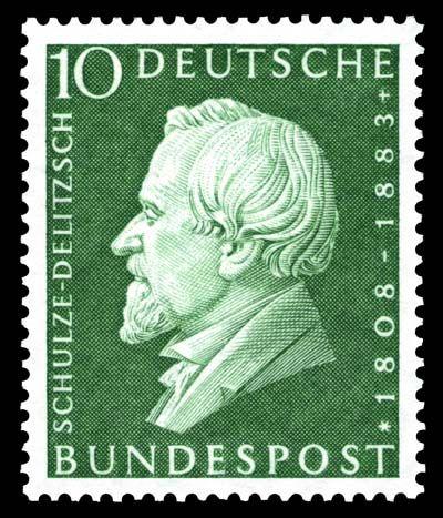 Deutschland 1958 Briefmarke Schulze Delitzsch Minr 293 Then In