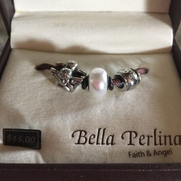 FAITH & ANGEL  All 3 Beads Faith and Angel Will fit Pandora Not a bracelet beads on string ⭐️⭐️ Bella perlina Jewelry