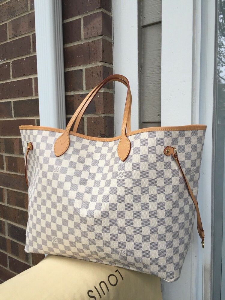 36956262557 Authentic LOUIS VUITTON Damier Azur canvas Neverfull GM Tote Bag #fashion  #clothing #shoes #accessories #womensbagshandbags (ebay link)