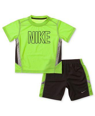 052798fb2 Nike Kids Set, Little Boys Tee and Mesh Short Set - Kids Boys 2-7 - Macy's