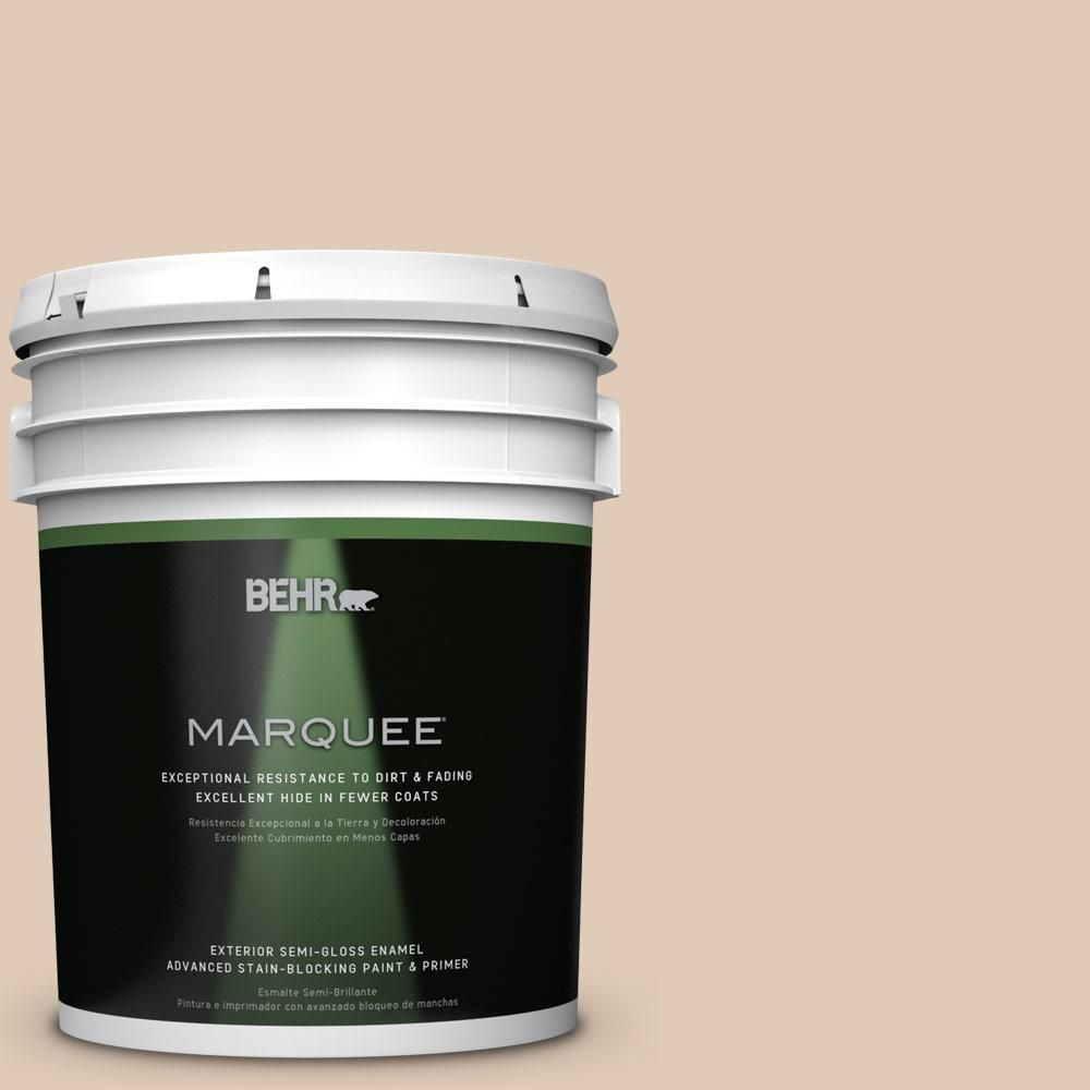 BEHR MARQUEE 5-gal. #S240-2 Rice Crackers Semi-Gloss Enamel Exterior Paint
