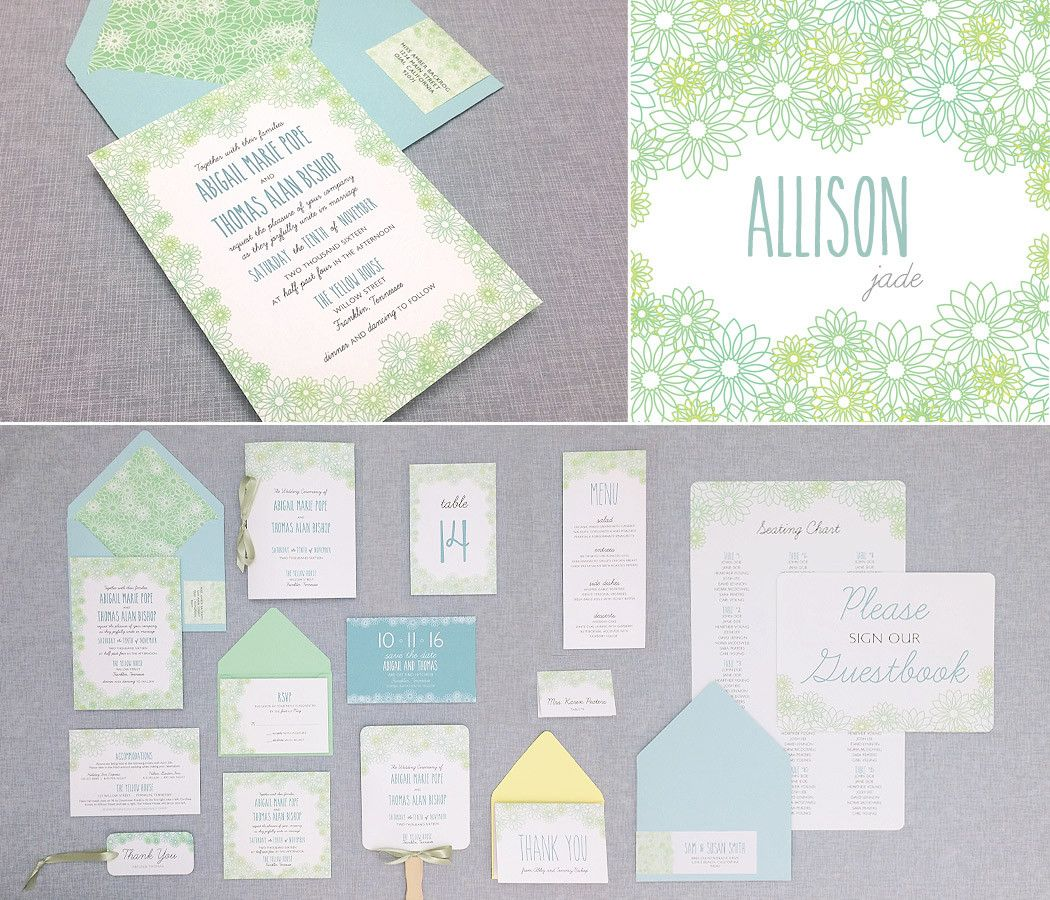 Allison : The Budget Savvy Bride Collection | Diy wedding invitation ...