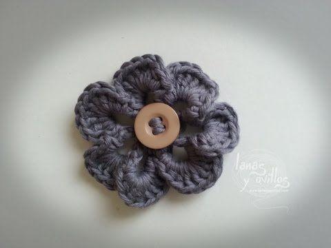 Tutorial Flor Crochet Flower Youtube Espaol Teresa Restegui
