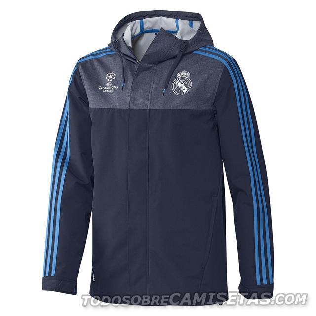 2f6244ab7 MODA  Línea Training de Adidas para la Champions League del Real Madrid 2015  16 - Todo Sobre Camisetas