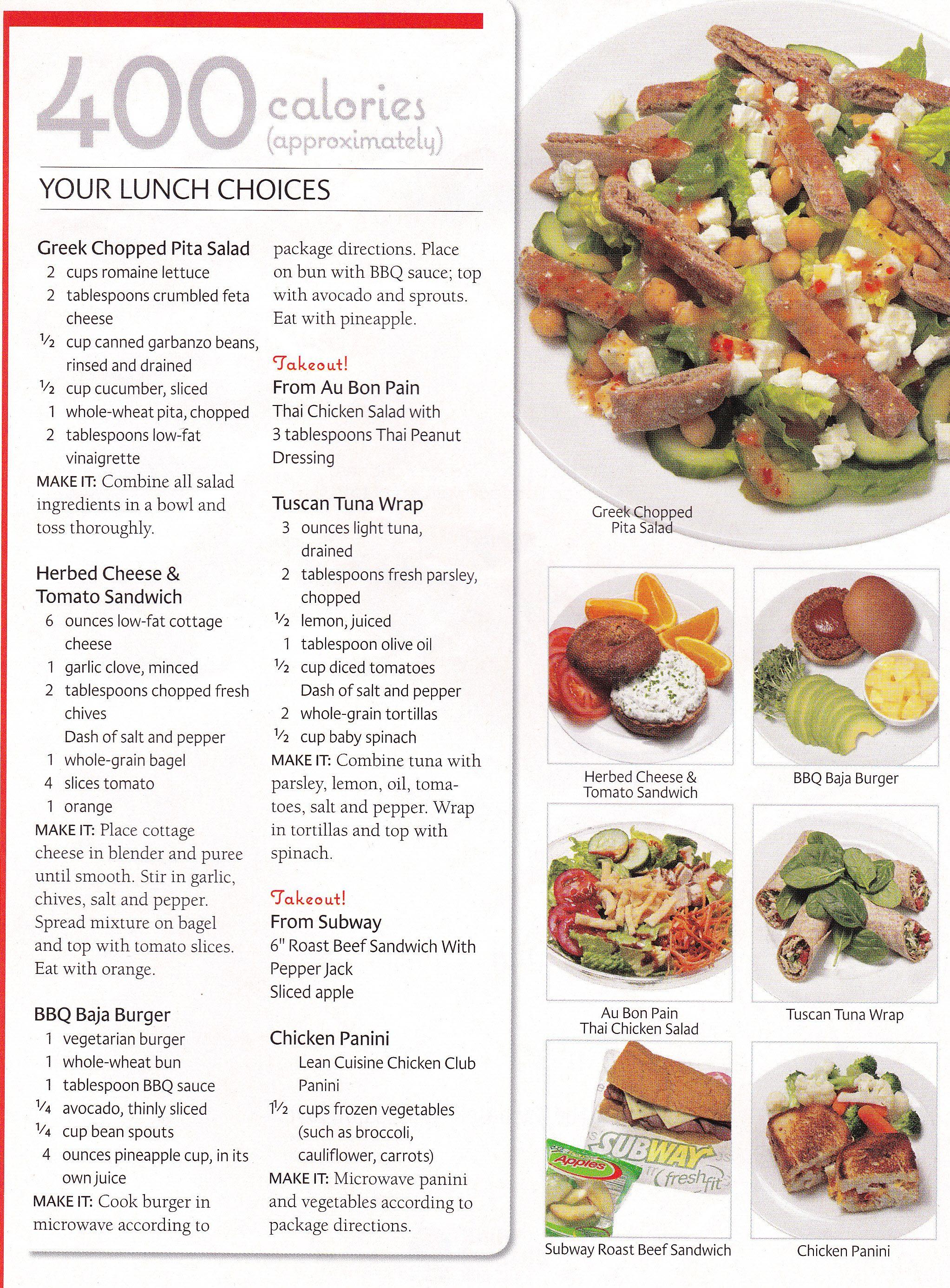 600 calorie diet menu