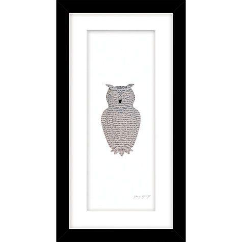 Daisy Maison - Owl Framed 3D Laser-Cut Print, 215 x 415cm Laser - creer une maison en 3d