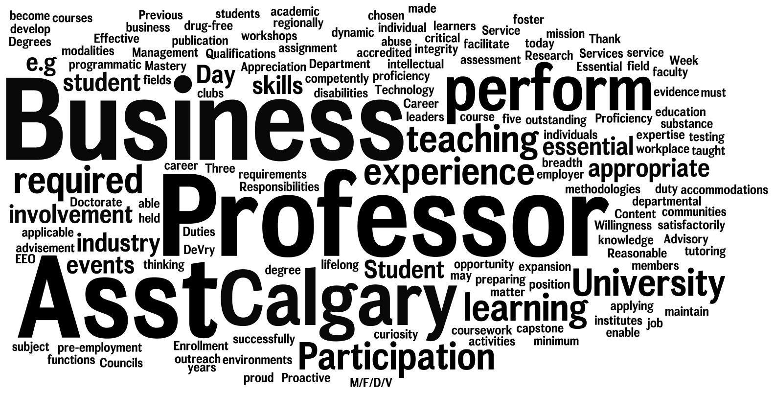 CAABCalgary Asst Professor Please send resume to