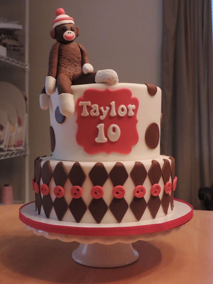 Incredible Sock Monkey Birthday Cake With Images Monkey Birthday Cakes Funny Birthday Cards Online Barepcheapnameinfo