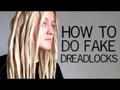 Tutorial How To Do Fake Dreadlocks Fake Dreadlocks Fake Dreads Dreadlocks Diy