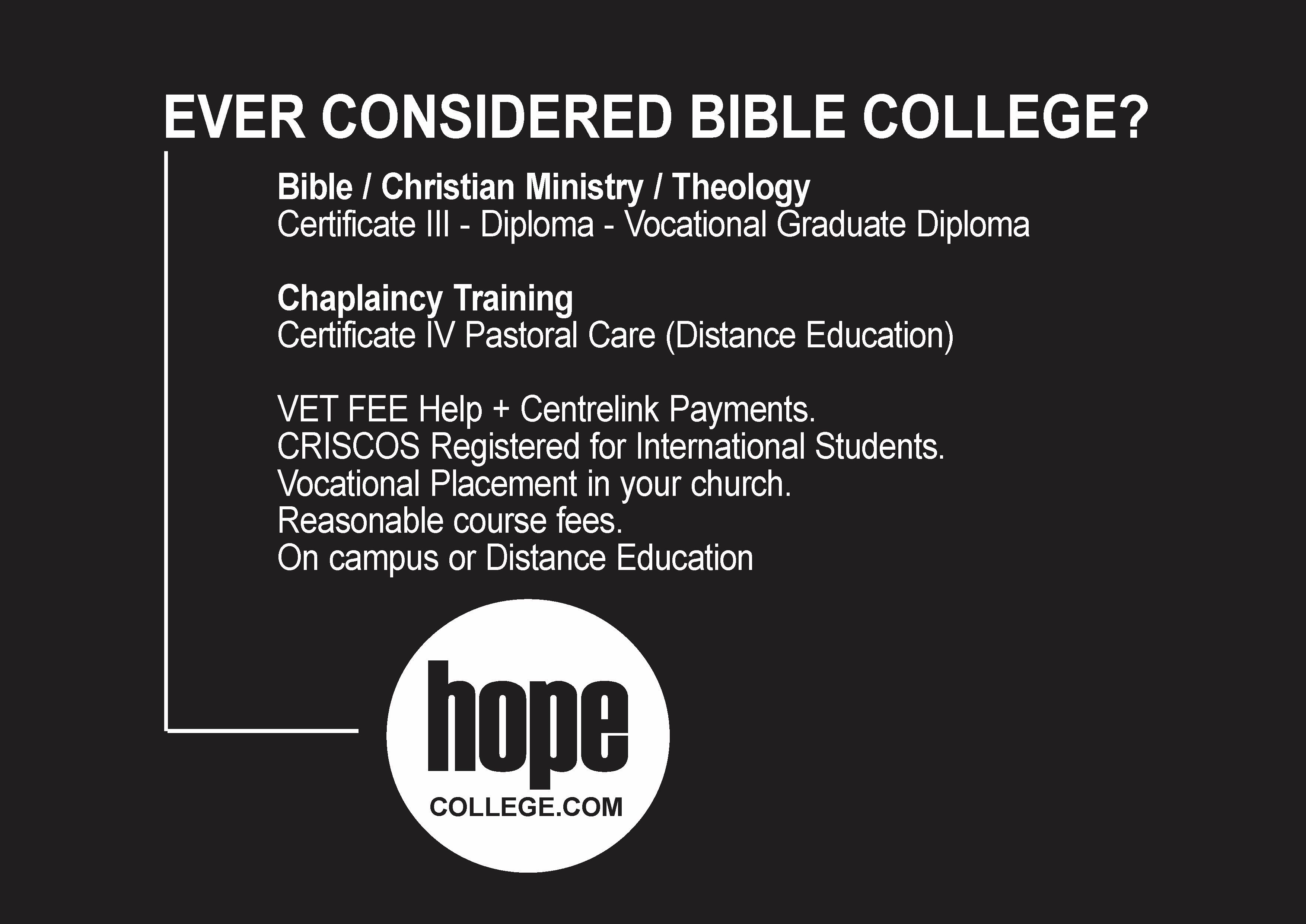 Considered College Calling Career Bible Ever More Less Andever Considered Bible College More Calling And L Bible College Bible International Students