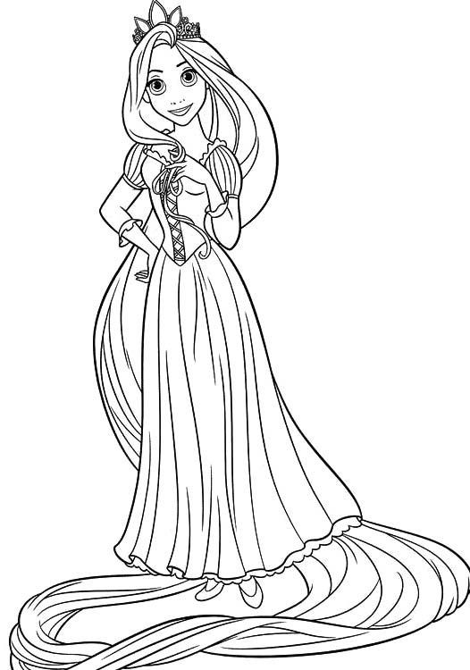 Princess rapunzel is young very good coloring pages