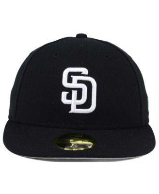 huge discount 83d27 2cca7 New Era San Diego Padres Low Profile C-dub 59FIFTY Cap - Black 7 1 4