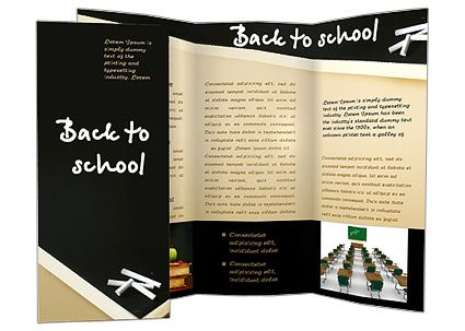 pamphlet templets for free Back to School Words Brochure - school brochure template