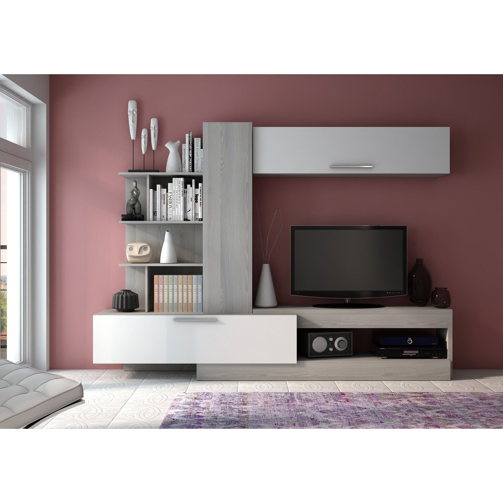 Trasman 4k Wall Unit Entertainment Center Muebles Para Tv