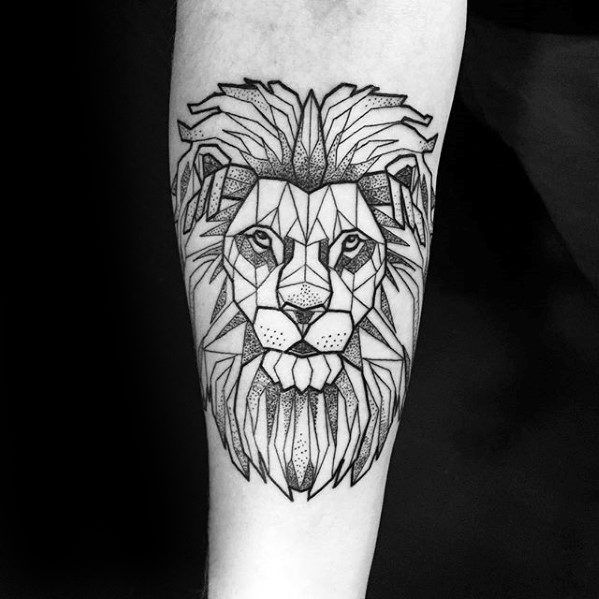 Top 57 Geometric Lion Tattoo Ideas 2020 Inspiration Guide In 2020 Geometric Lion Tattoo Tattoo Designs Men Geometric Lion