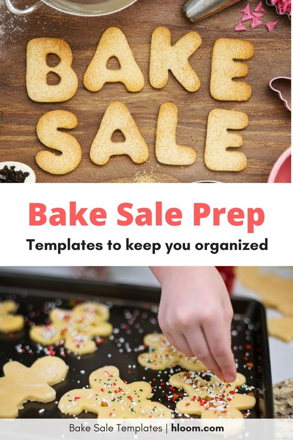 free bake sale flyer templates make it easy to stay organized during