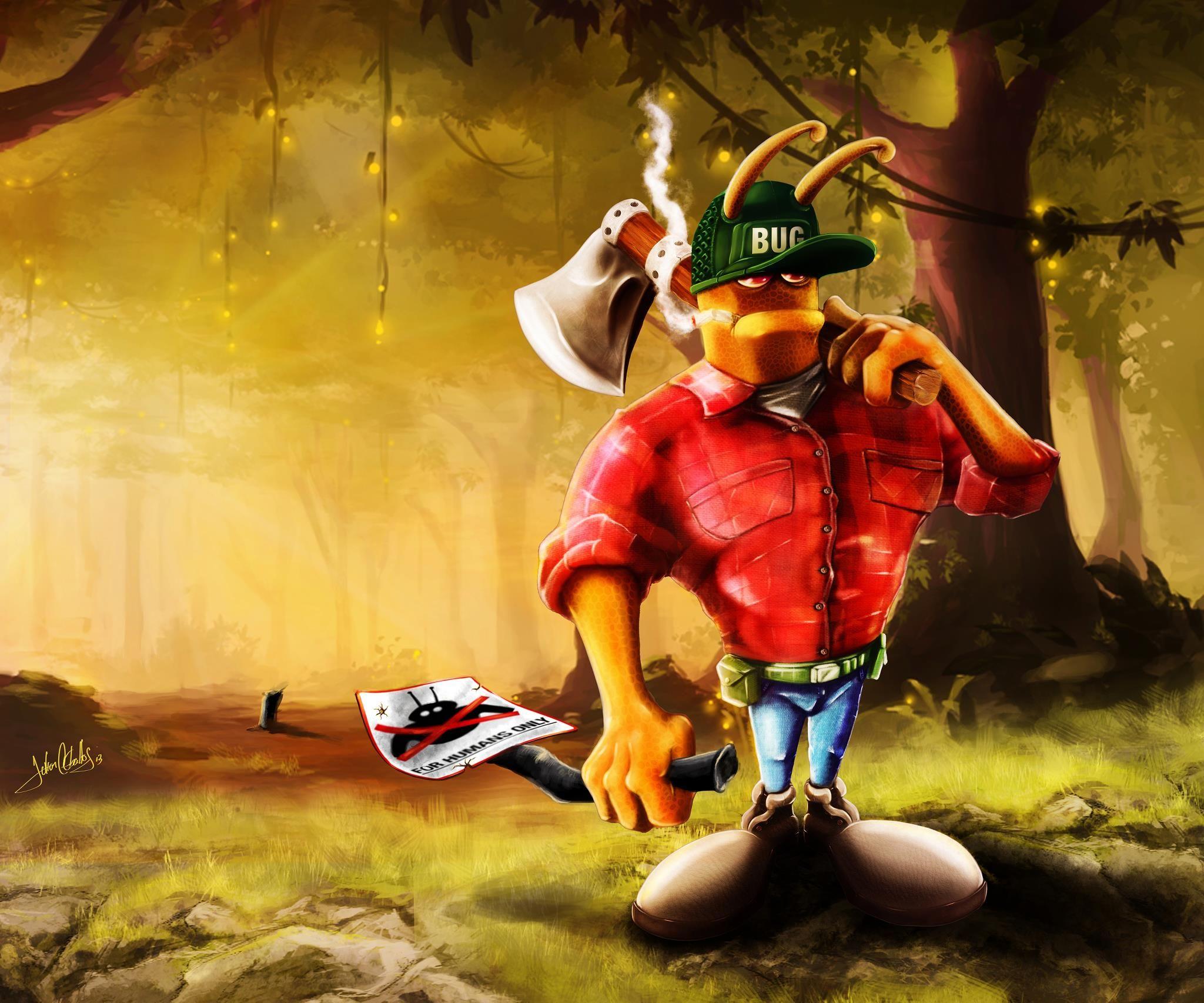 Mr. BUG-lumberjack, por que la naturaleza es de los insectos!!!