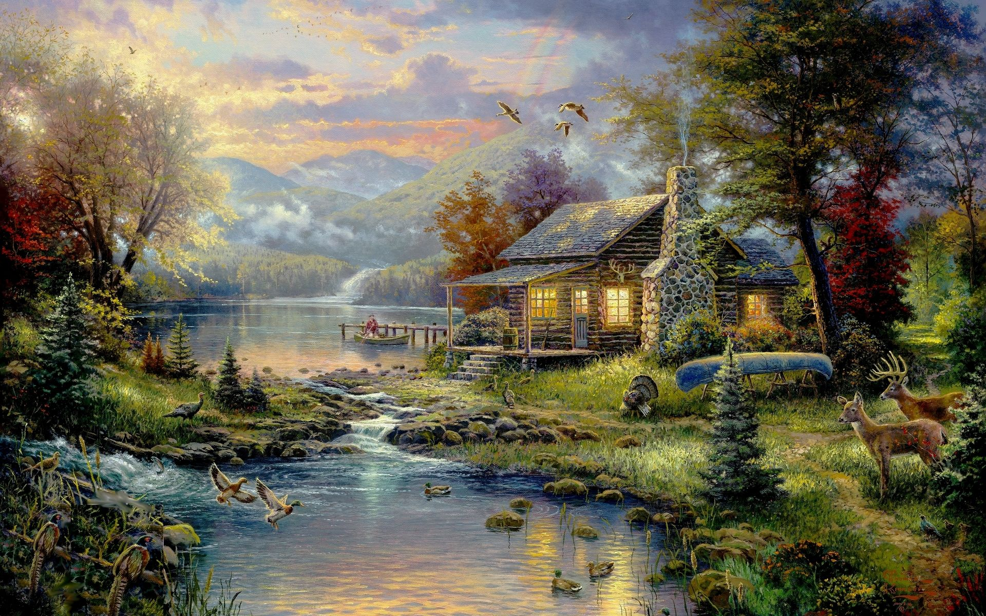 House Paintings country | country house wallpaper, art, paintings | hd desktop