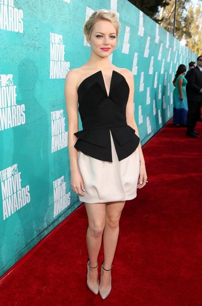 Emma Stone in Martin Grant at MTV Movie Awards 2012