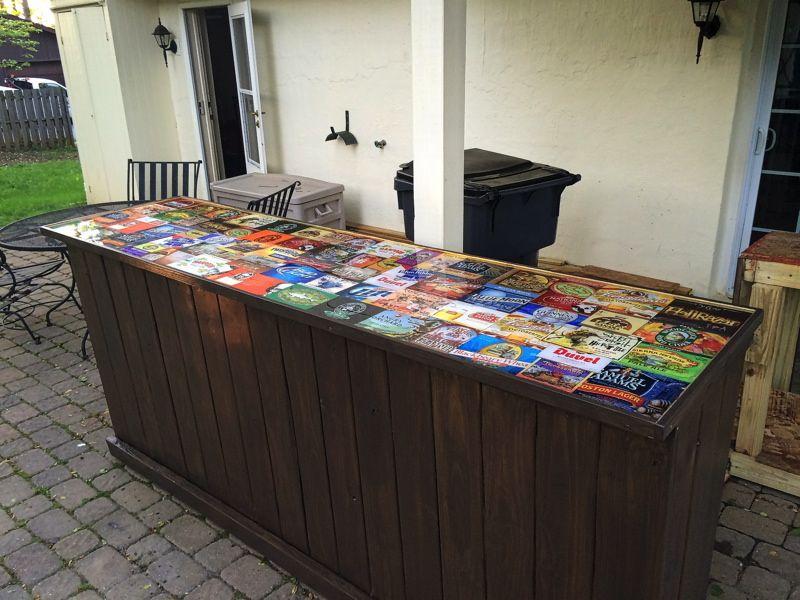 Clear Epoxy Resin Diy Outdoor Bar Outdoor Countertop Outdoor Bar