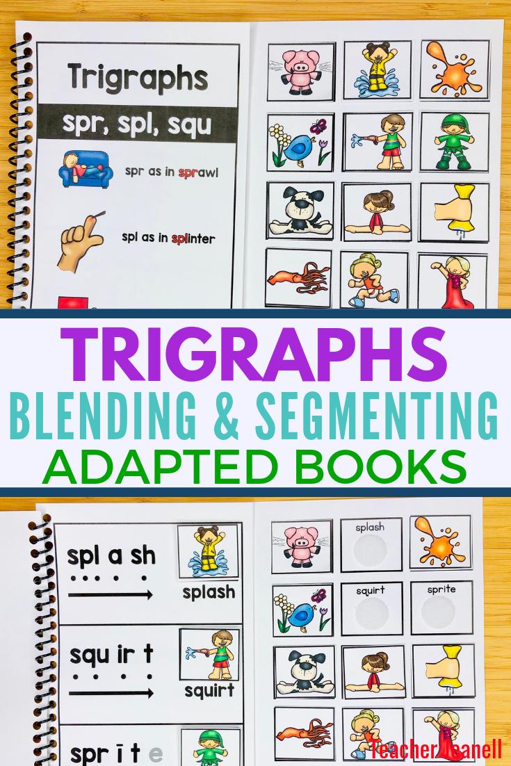 Trigraphs Blending Segmenting Books 3 Books Trigraphs Adapted Books Adapted Books Trigraph Words Trigraphs