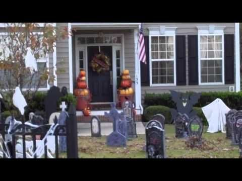 FALL OUTDOOR DECOR and EXTREME HALLOWEEN HOUSES outdoor - pinterest halloween yard decor