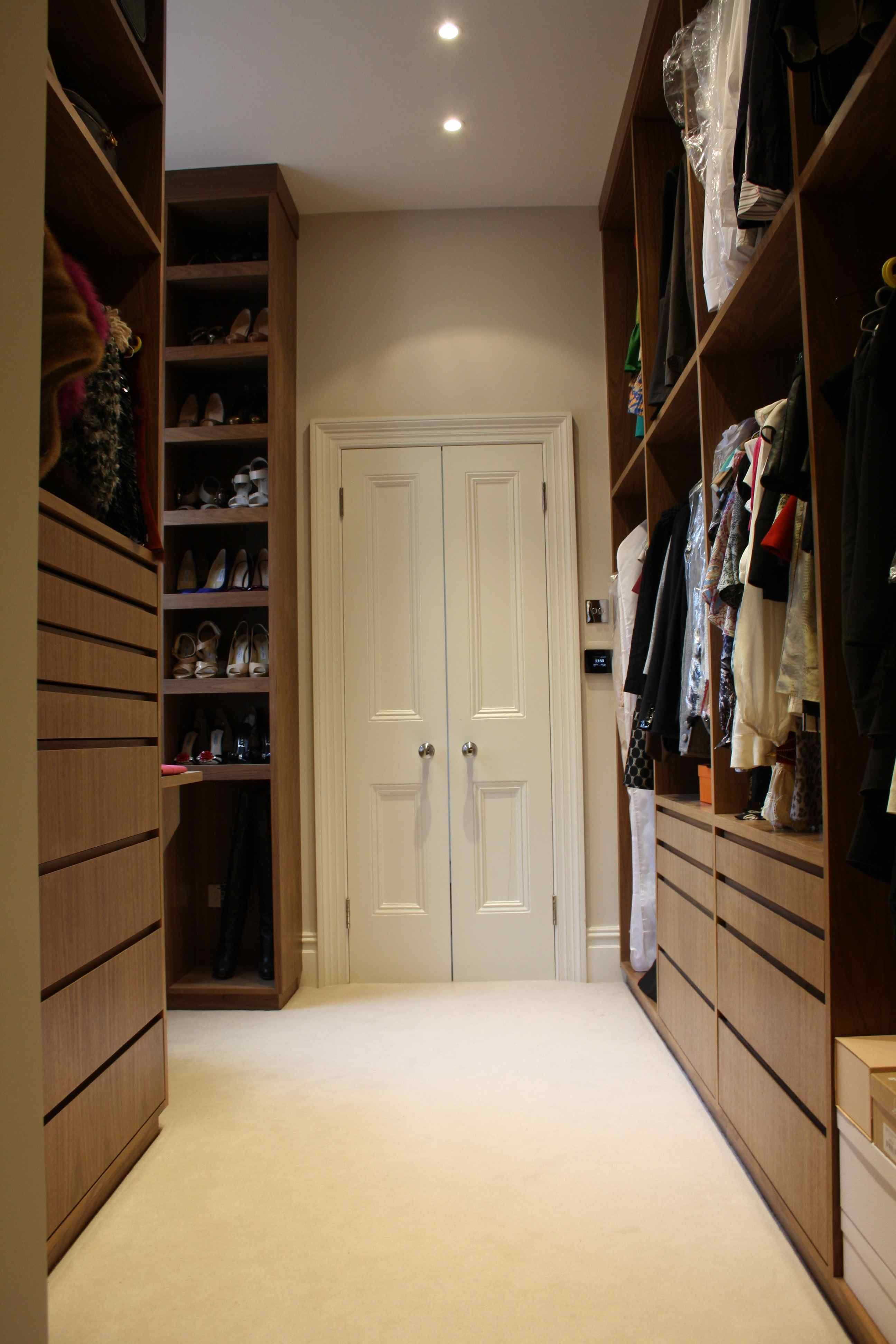 Beautiful Dressing Room With Walk In Wardrobes Leading Through To