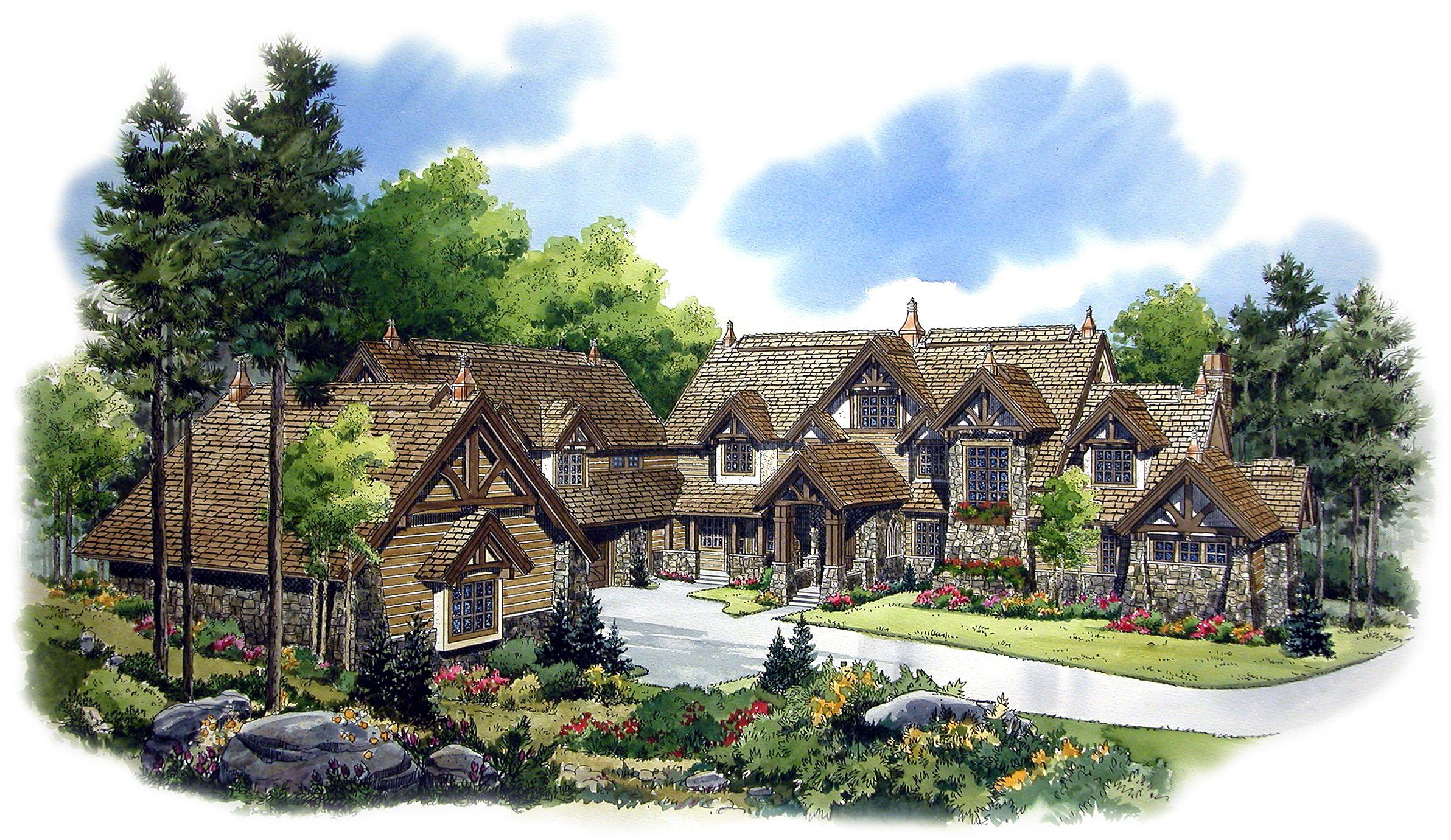 Plan 11570kn Luxurious Mountain Lodge House Plans Craftsman House Plans Southern Living House Plans
