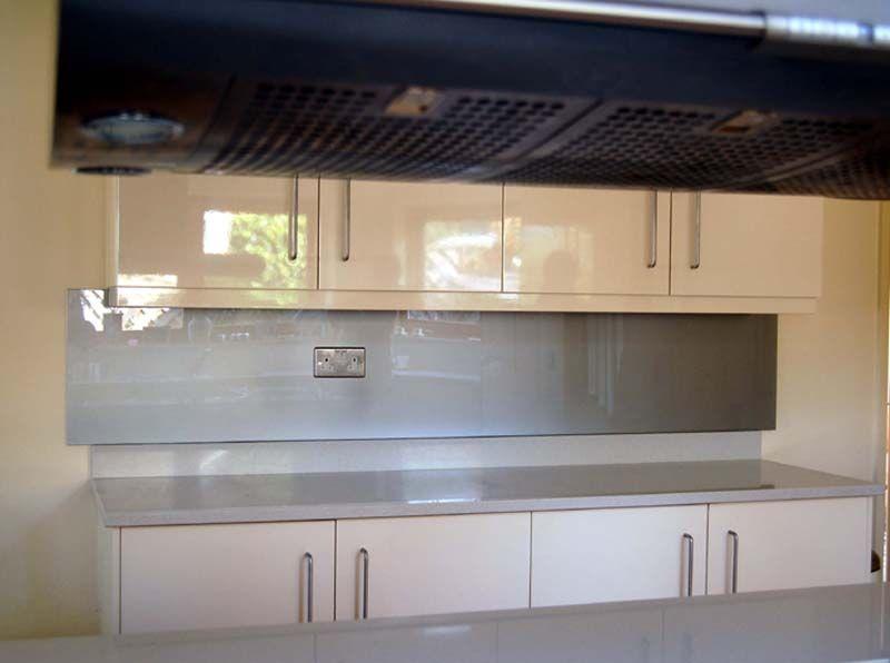 untextured glass splashback panel in silver white teal. Black Bedroom Furniture Sets. Home Design Ideas