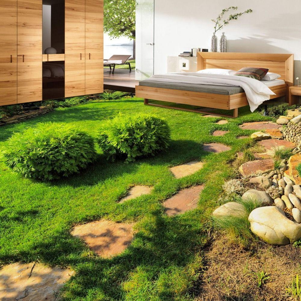 Best Custom 3D Floor Wallpaper Green Plants Grass Bedroom 640 x 480