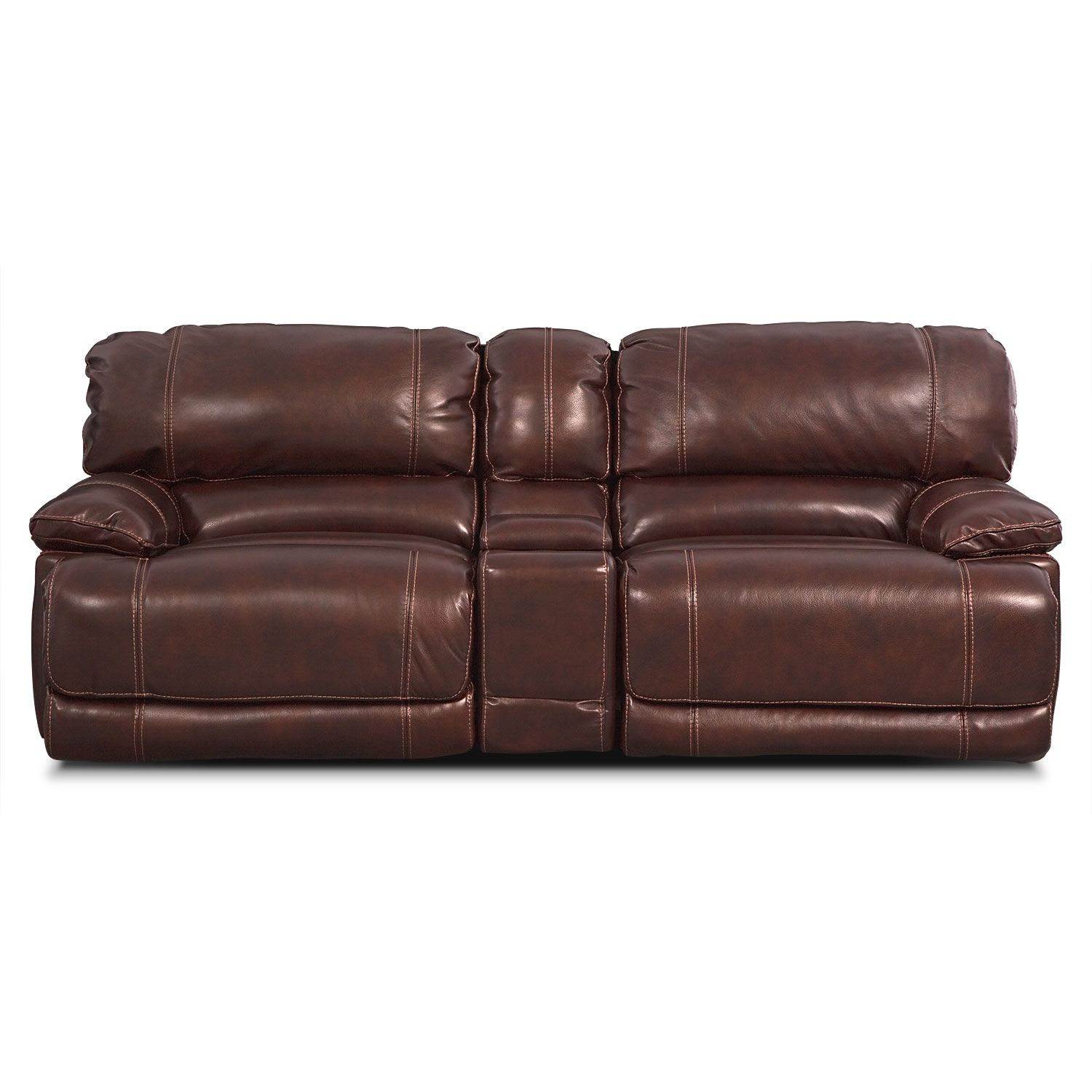 St Malo Iii 3 Pc Power Reclining Sofa With Console Value City