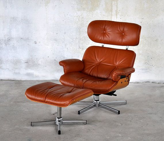 Mid Century Modern Charles And Ray Eames Herman Miller Style Leather Lounge  Chair U0026 Ottoman