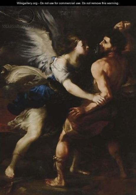 Jacob Wrestling With The Angel - Luca Giordano