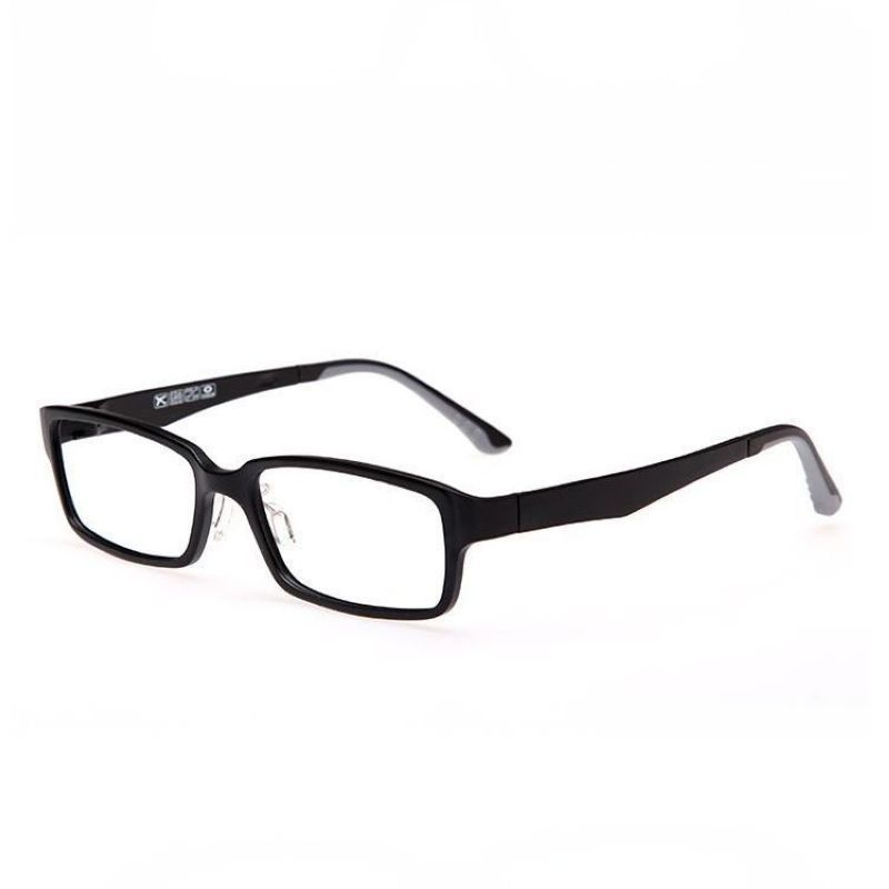 b7a100685b2 Matte Black Lightweight Plastic Rectangle Glasses Frame