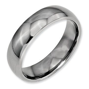 Jewelry Adviser Rings Titanium Ridged Edge Weave Design 6mm Polished Band