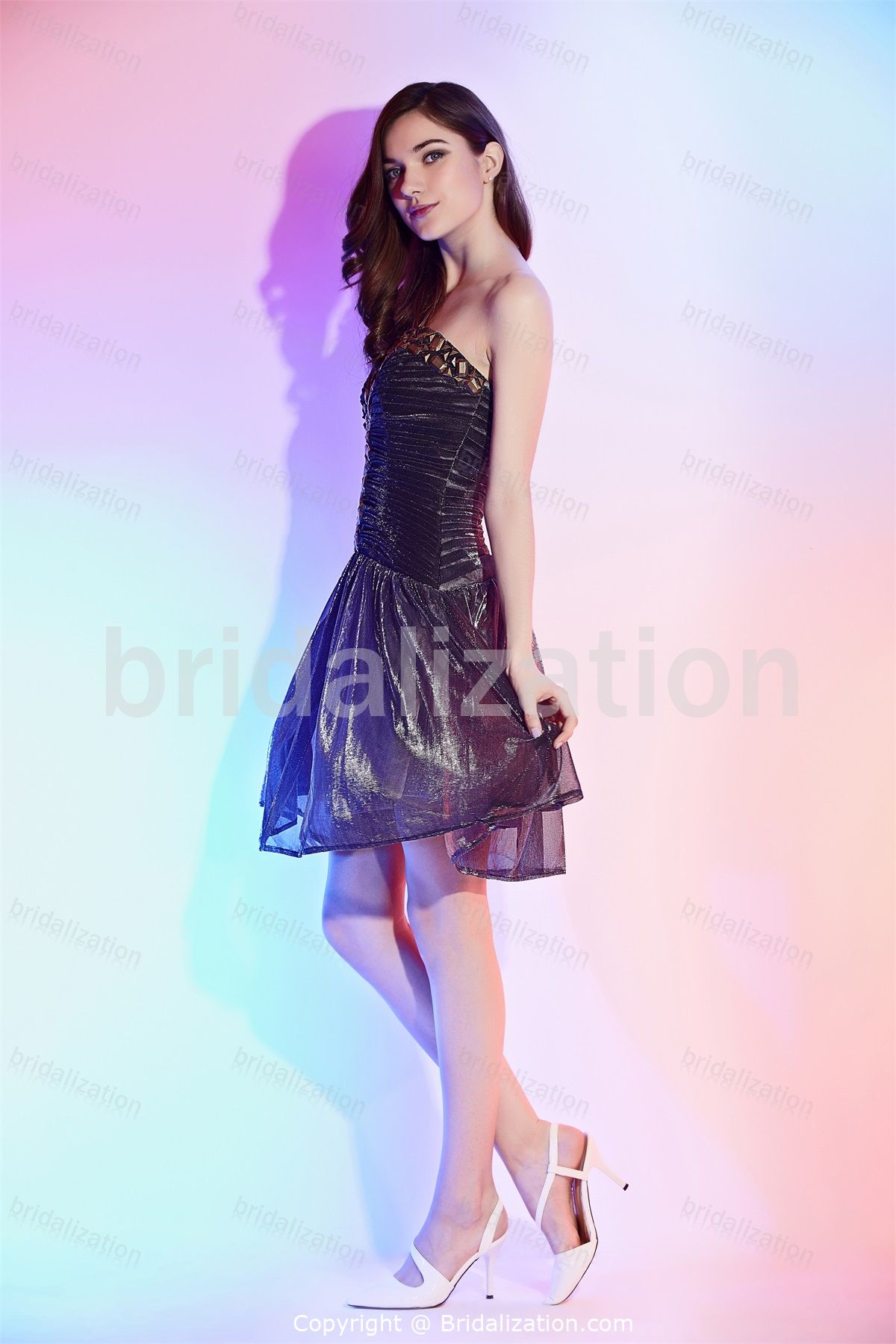 Black A-Line Sweetheart Short/ Mini Cocktail Dress/ Homecoming Dress ...