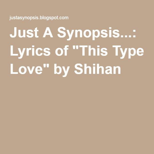 shihan this type love