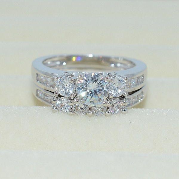 Size 10 Fashion Diamonique CZ White Gold Filled Engagement Wedding ...