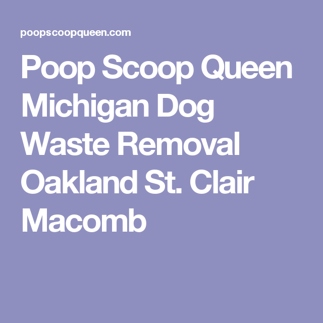 Poop Scoop Queen Michigan Dog Waste Removal Oakland St. Clair Macomb