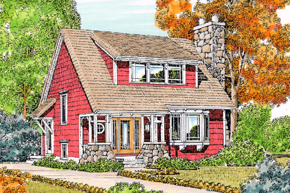 Plan 43065pf Coziness And Charm Small Cottage House Plans Stone Chimney Small Cottage Homes