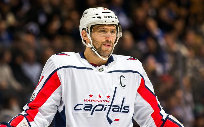 Download wallpapers Alexander Ovechkin, Washington Capitals, NHL, USA, Russian hockey player, Forward