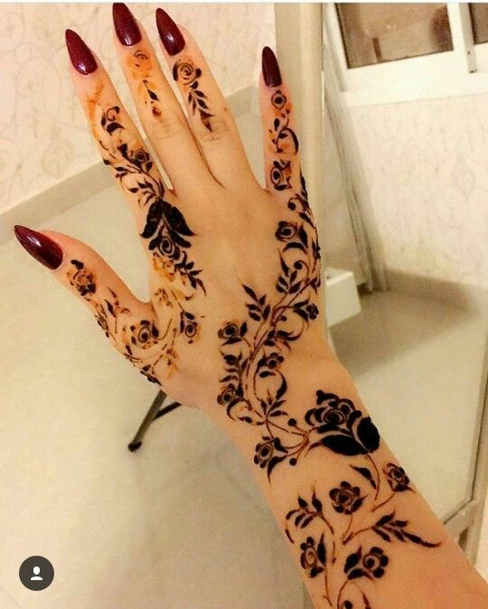 Beautiful Rose Henna Design Mehndi Henna Henna Designs Henna