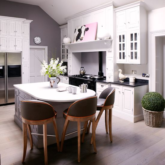 Modern Country Kitchen Diner In White And Grey Decorating Homes
